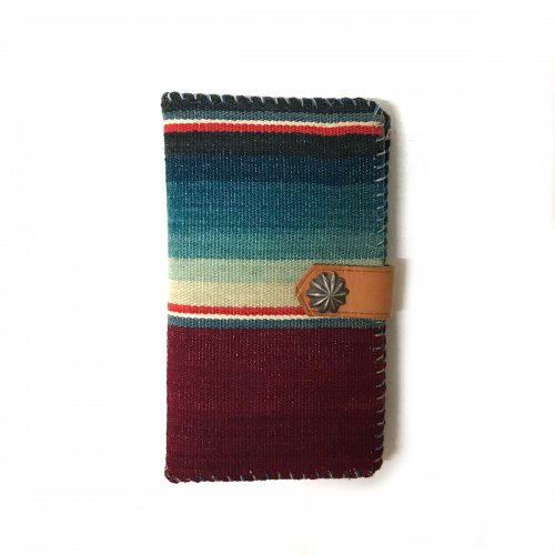 iPhone  HOLDER CASE Vintage Mexican Rag  /メキシカンラグ 手帳型アイフォーンケース コンチョスナップボタン