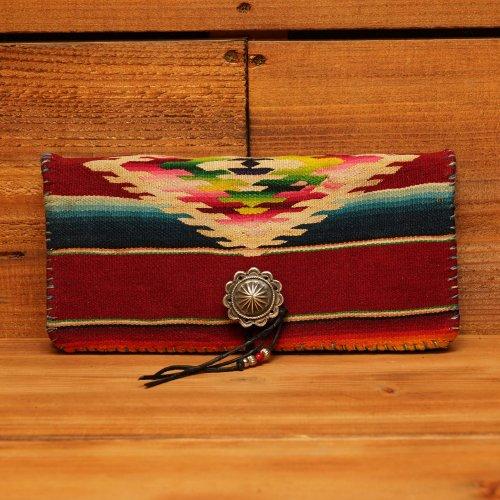 ヴィンテージメキシカンラグ 950シルバーコンチョ 長財布 / Vintage Mexican Rag Silver 950 Concho Long Wallet RED DIAMOND