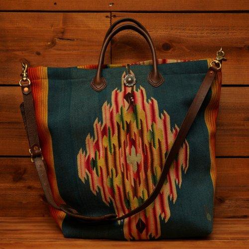 ヴィンテージメキシカンラグ シルバーコンチョ 2way ショルダーバッグ / Vintage Mexican Rag Silver 950 2way Shoulder Bag