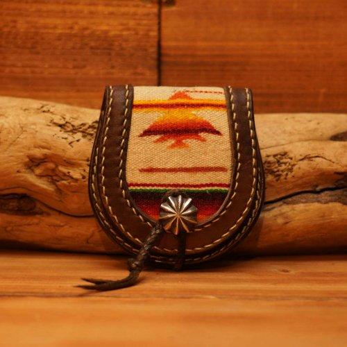 vintage mexicanrag&leather horseshoe coin purse/ビンテージメキシカンラグホースシューコインパース