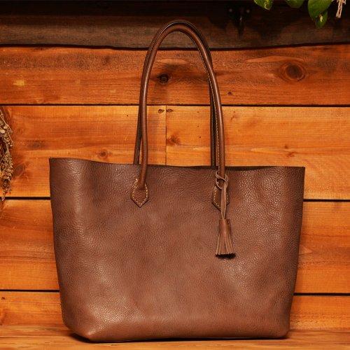 ロロマレザー素材 トートバッグ ブラウン / ROROMA tote bag BROWN