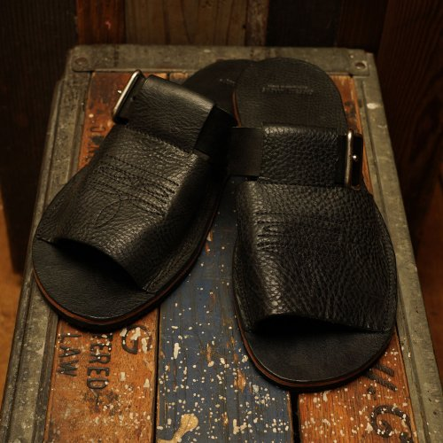 ROROMA Leather strap Sandal vibram moreflex sole / ロロマレザー ストラップサンダル ビブラムソール ブラック