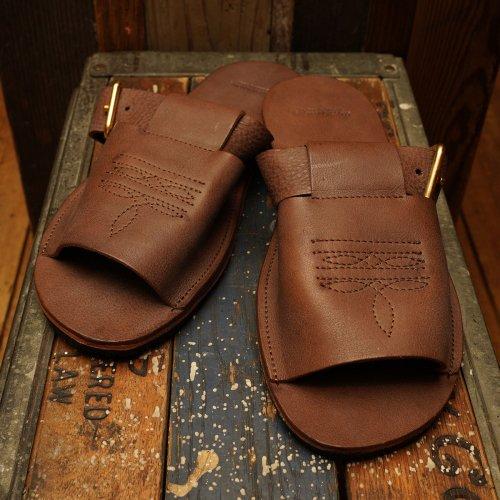 ROROMA Leather strap Sandal vibram moreflex sole / ロロマレザー ストラップサンダル ビブラムソール ブラウン