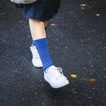 """足にやさしい靴下""""さあ旅に出よう"""":TRIP SCOTT TYPE.S-01/NAVY BLUE"""