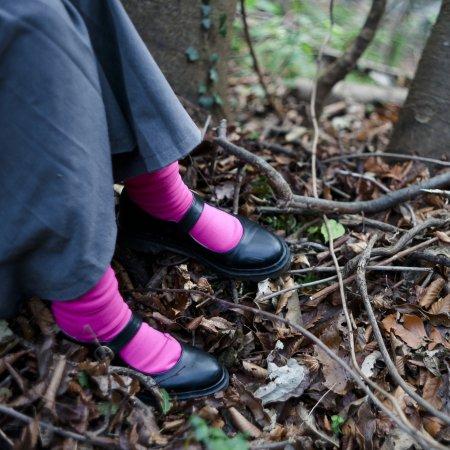 """足にやさしい靴下""""さあ旅に出よう"""":TRIP SCOTT TYPE.S-01/PINK"""
