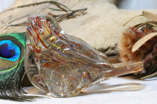 硝子の小鳥ペーパーウェイト-1