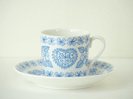 Gustavsberg/グスタフスベリ/BORO/ボロ/コーヒーカップ&ソーサー