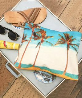 <img class='new_mark_img1' src='https://img.shop-pro.jp/img/new/icons20.gif' style='border:none;display:inline;margin:0px;padding:0px;width:auto;' />【SAMUDRA】Palm tree Clutch Bag/パームツリークラッチバッグ