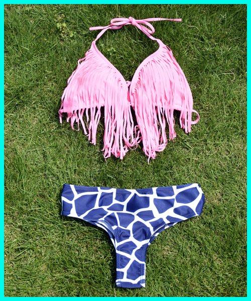 【RAYdySelect】G.pink fringe bikini