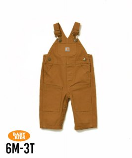 【CARHARTT】Baby & Kids Washed Duck Bib Overall 6M-3T(6ヶ月〜3歳)