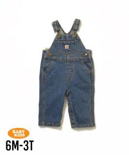 【Carhartt】Baby Denim Bib Overall 6M-3T(6ヶ月〜3歳)