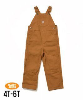 <img class='new_mark_img1' src='https://img.shop-pro.jp/img/new/icons56.gif' style='border:none;display:inline;margin:0px;padding:0px;width:auto;' />【Carhartt】Kids Washed Duck Bib Overall 4T-6(4歳〜6歳)