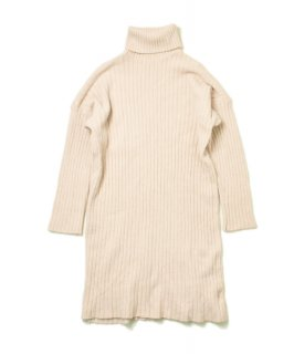 【RAYdy】Turtleneck Knit Dress(2Color)
