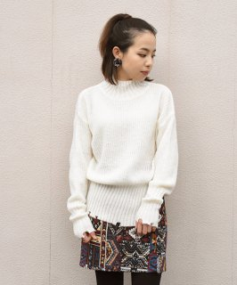 【Flup.star】Damage Side Slit Knit