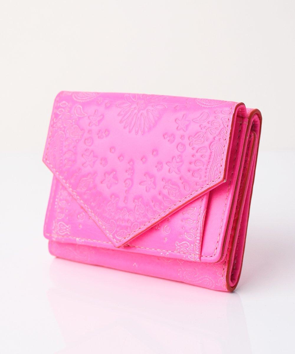 【mixxdavid】Tri-Fold Wallet (Neon Pink)