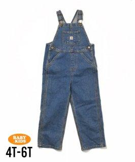 【Carhartt】Baby Denim Bib Overall 4T-6(4歳〜6歳)