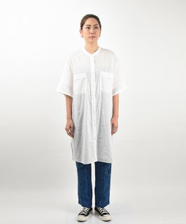【QUINOA】Mixed Hemp Shirt Dress
