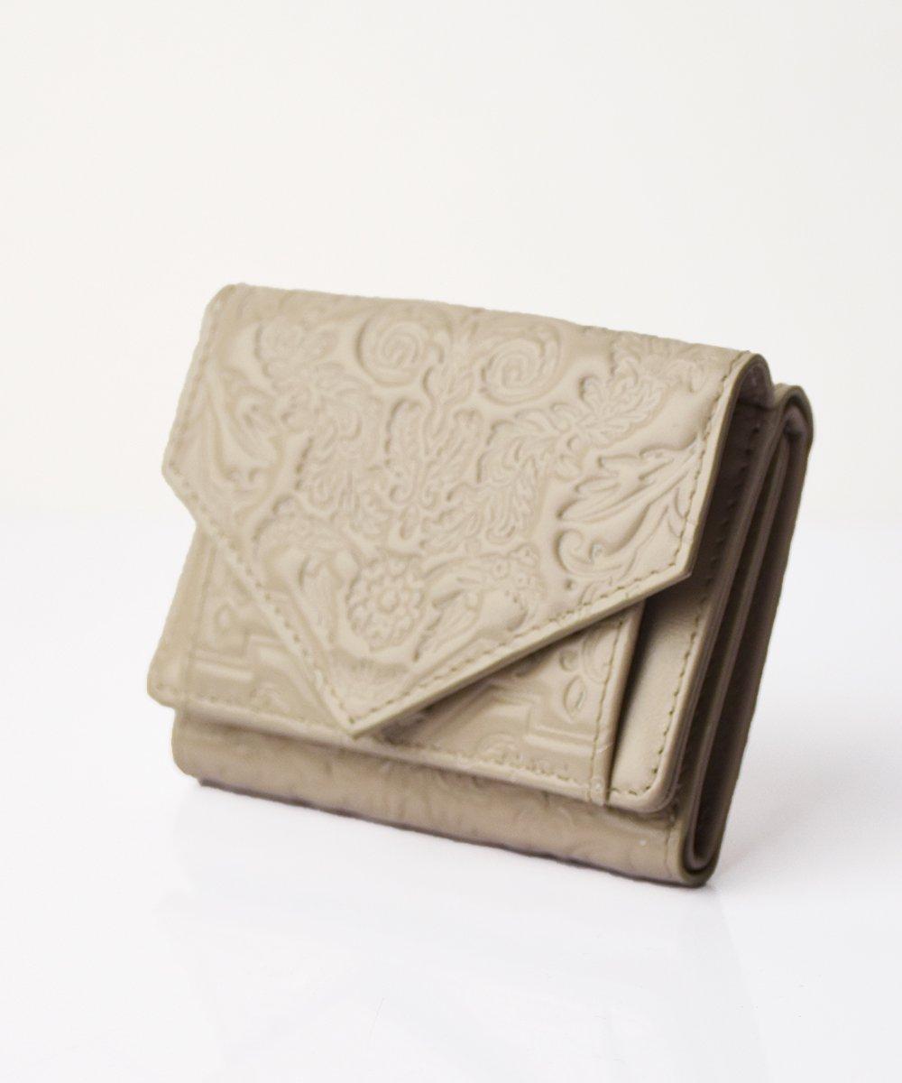【mixxdavid】Jacquard Mini Wallet (Beige)