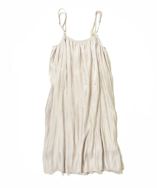 【ChignonStar】Gather camisole OP (Pearl)