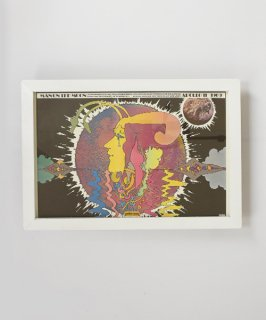 【Vintage Art Poster】Peter Max 『MANON THE MOON APOLLO 11』#18
