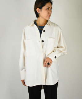 【ChignonStar】<br>Flannel overshirt<br>(2Color)