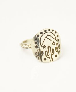 【ERICKA NICOLAS BEGAY】ENB-13 CIRCLE POINT RING #10