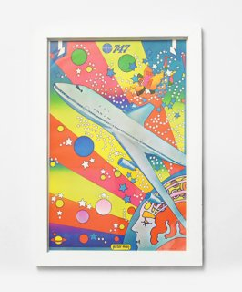 【Vintage Art Poster】Peter Max 『PAN AM』#23