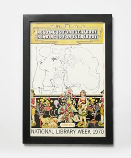 【Vintage Art Poster】PeterMax 『NATIONAL LIBRARY WEEK 1970』#27<img class='new_mark_img2' src='https://img.shop-pro.jp/img/new/icons14.gif' style='border:none;display:inline;margin:0px;padding:0px;width:auto;' />