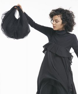 【HELOYSE】BALLOON TULLE BAG (Black)