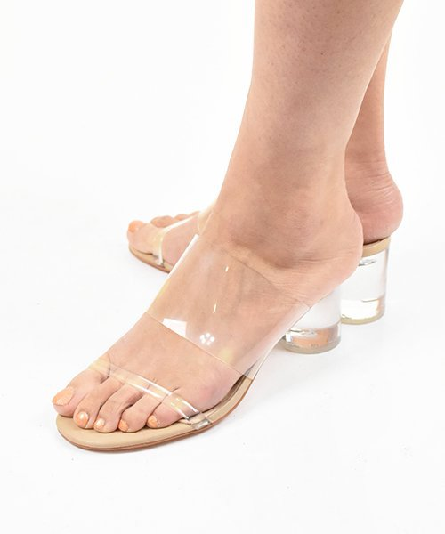 【Mollini】SARAYA-MO CLEAR NUDE Sandal