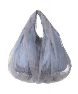 【HELOYSE】BALLOON TULLE BAG (Blue Gray)