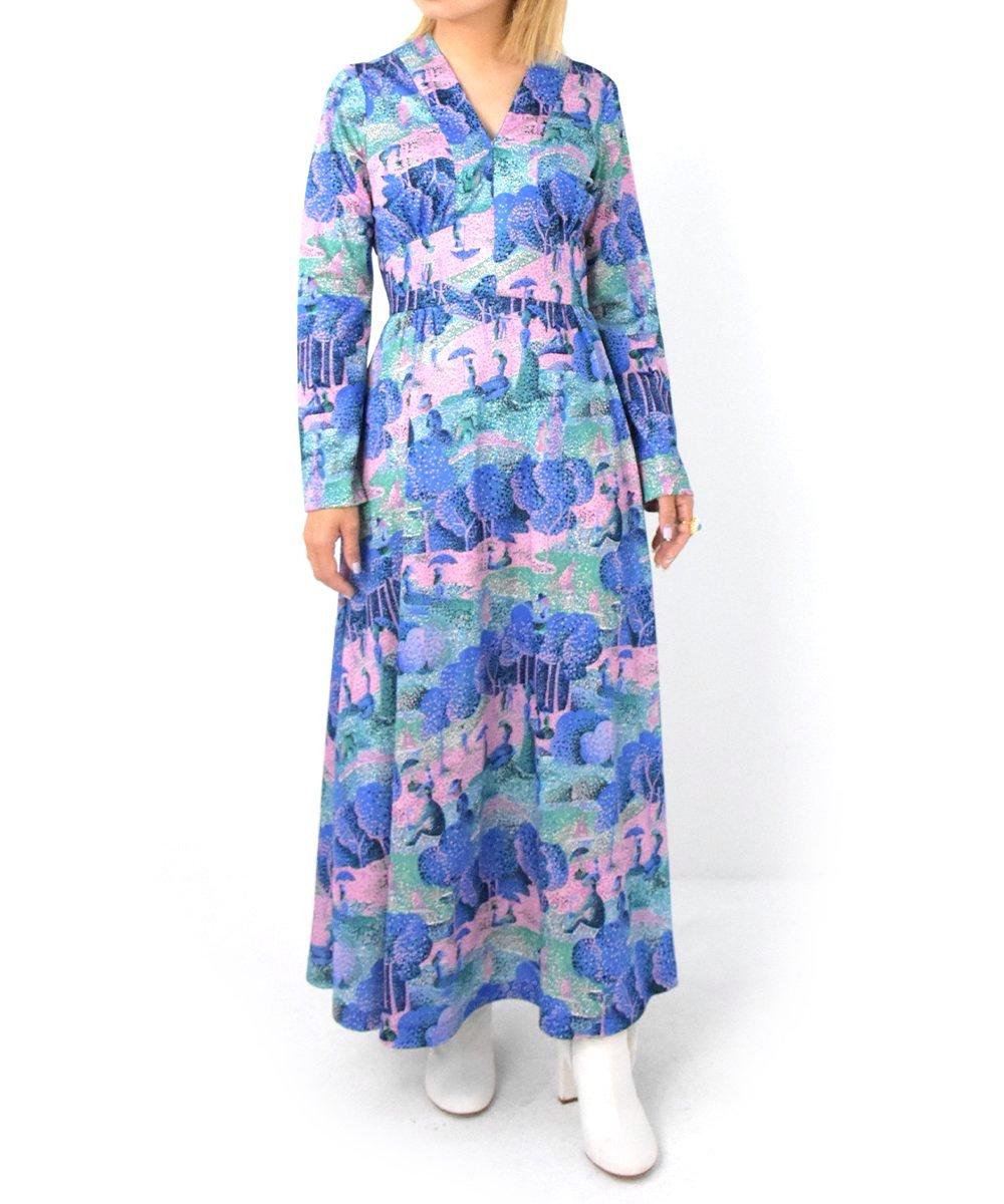 【P-11】Paradise long Vintage dress