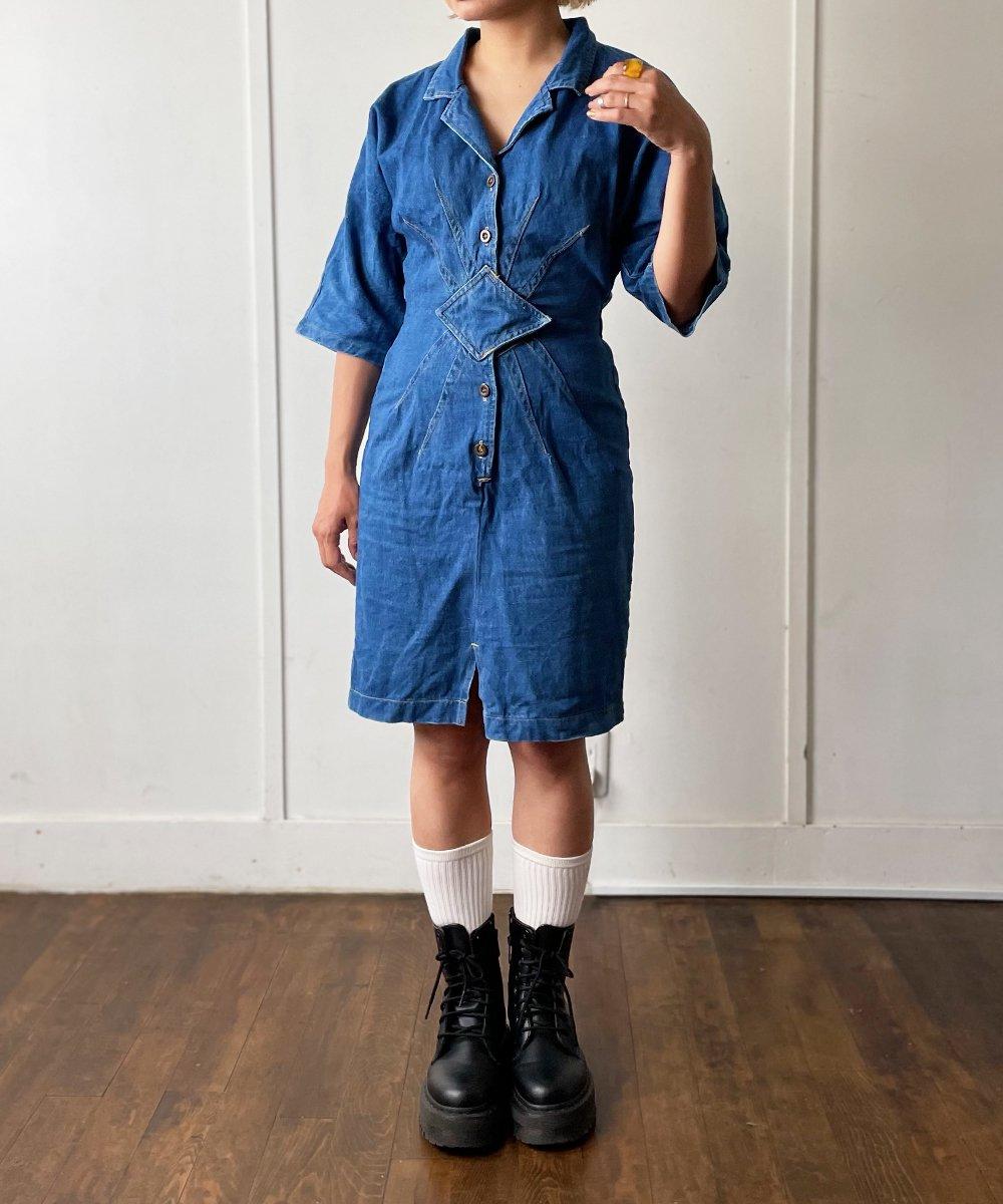【P-11】Denim Vintage dress<img class='new_mark_img2' src='https://img.shop-pro.jp/img/new/icons14.gif' style='border:none;display:inline;margin:0px;padding:0px;width:auto;' />