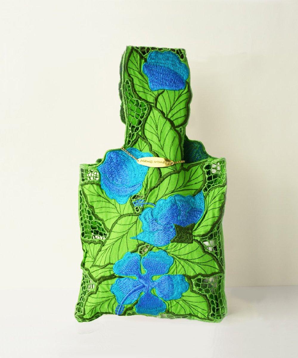 【Manic Manday】Hibiscus Cutwork Bag (Green)