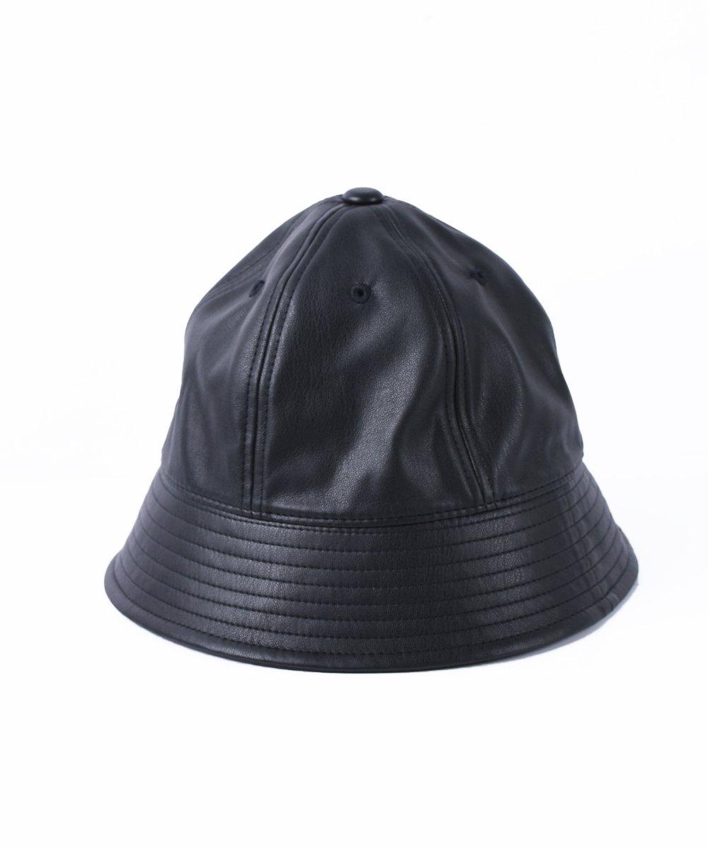 【RAYDY】Eco leather  Metro Hat (Black)