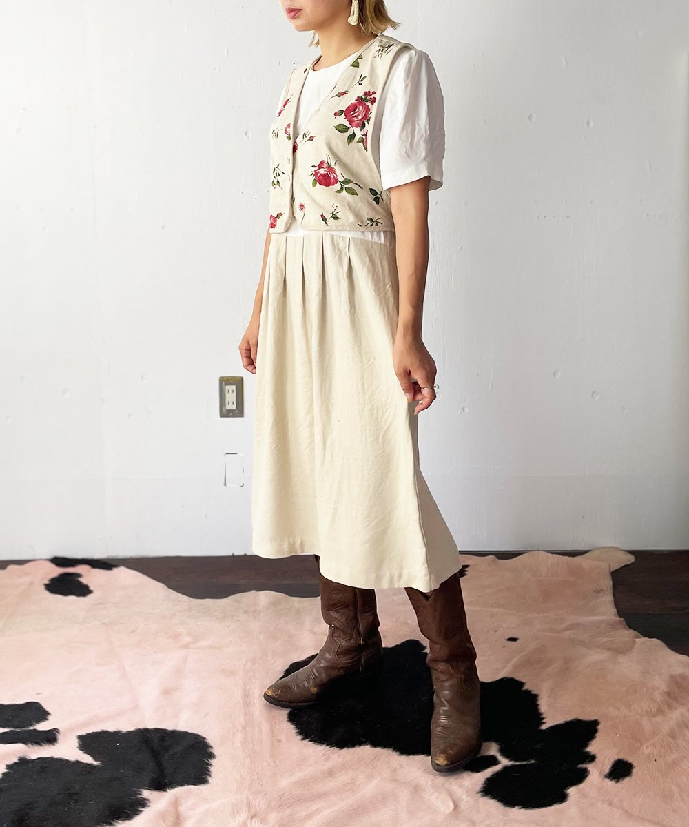 【P-11】Flowervest Layered One Piece/Made in U.S.A.