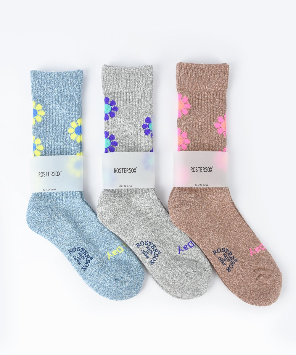 【ROSTER SOX】 PEACE Socks (3 Color)