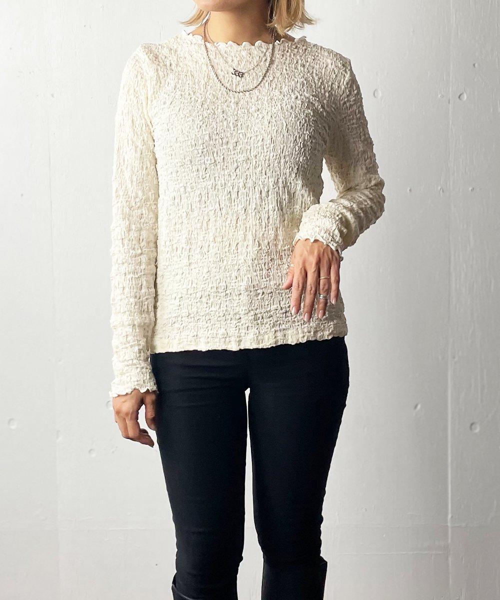 【RAYDY】Mellow shirring Long sleeve(Ivory)