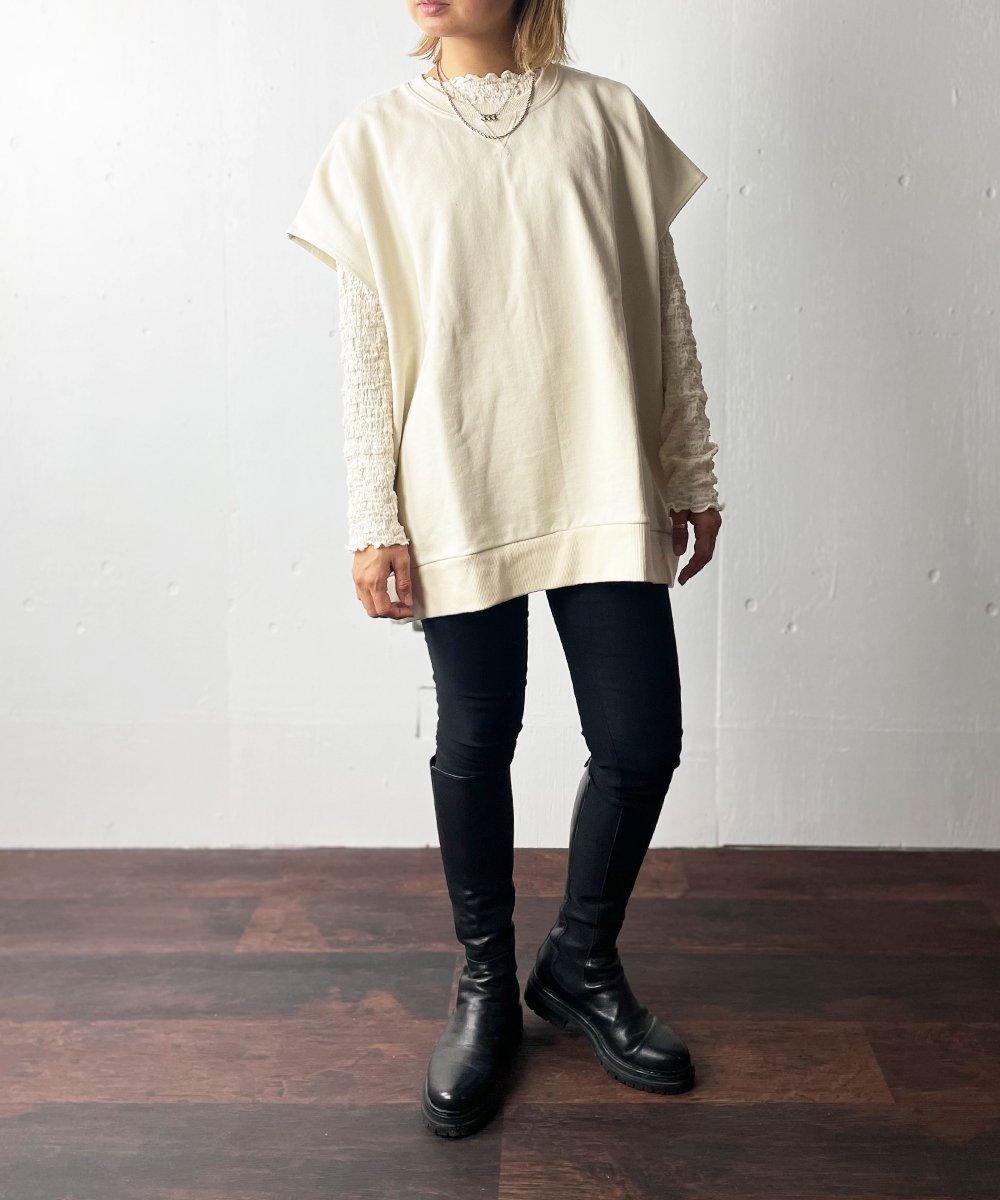 【Manic Manday】Sweat Vest (Ivory)
