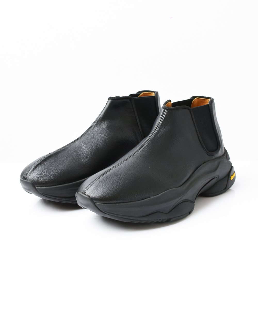 【LE TOPRINA】LEATHER SIDEGORE SHORTBOOTS (Black)