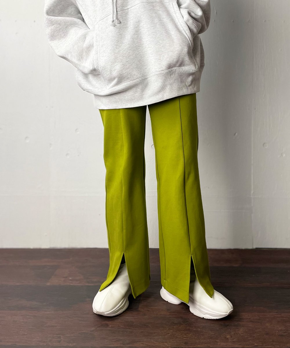 【WoM】SLIM FLARE PANTS (PISTACHIO)<img class='new_mark_img2' src='https://img.shop-pro.jp/img/new/icons14.gif' style='border:none;display:inline;margin:0px;padding:0px;width:auto;' />