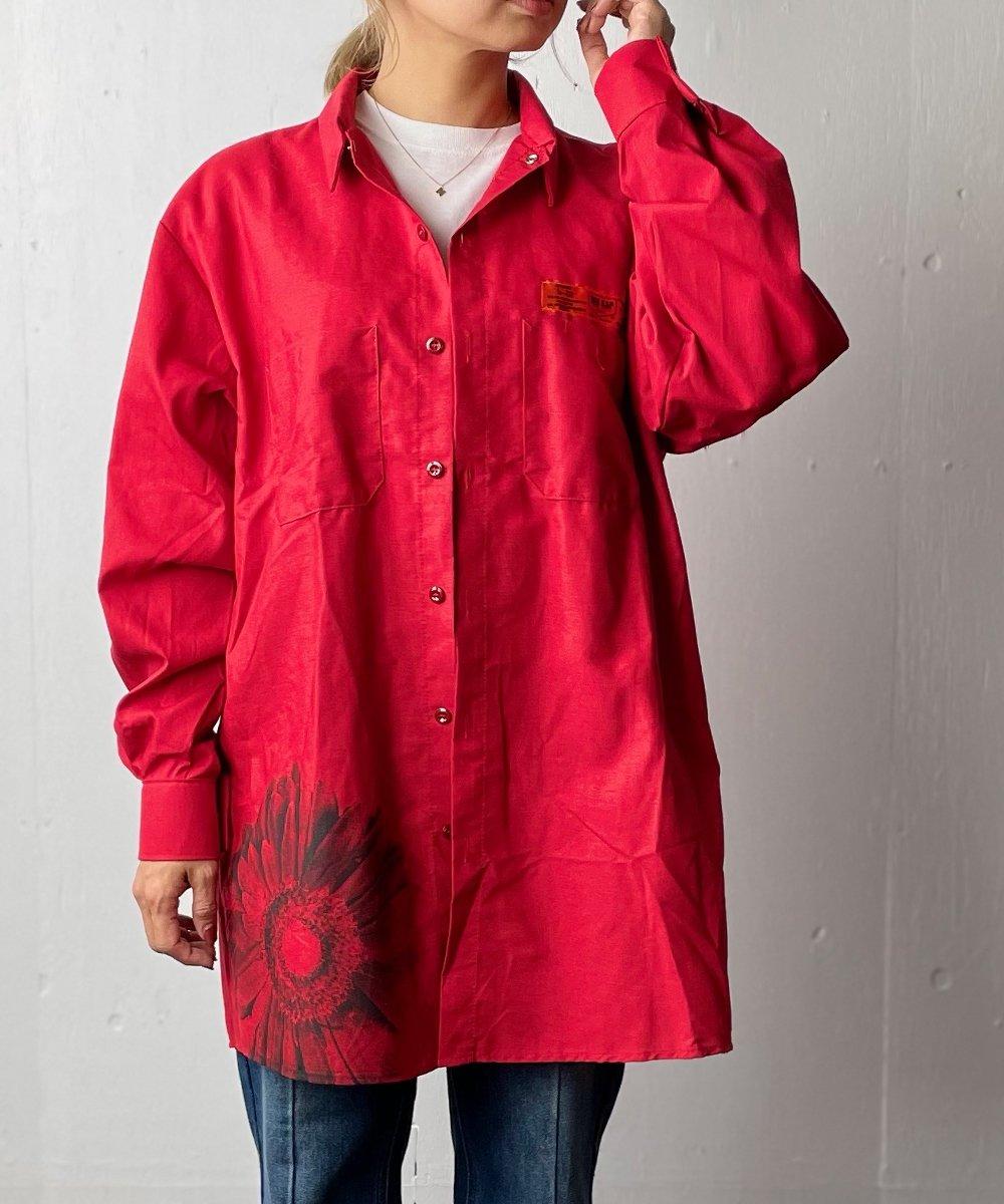 【RAYDY】RED KAP Remake Gerbera Long Work Shirt(Red)