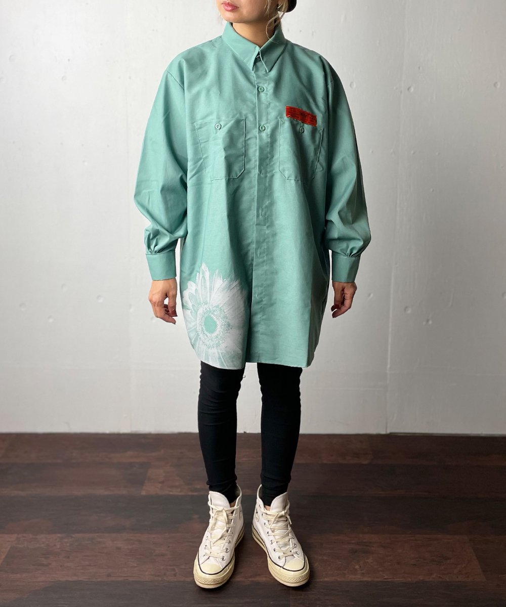 【RAYDY】RED KAP Remake Gerbera Long Work Shirt(Light green)