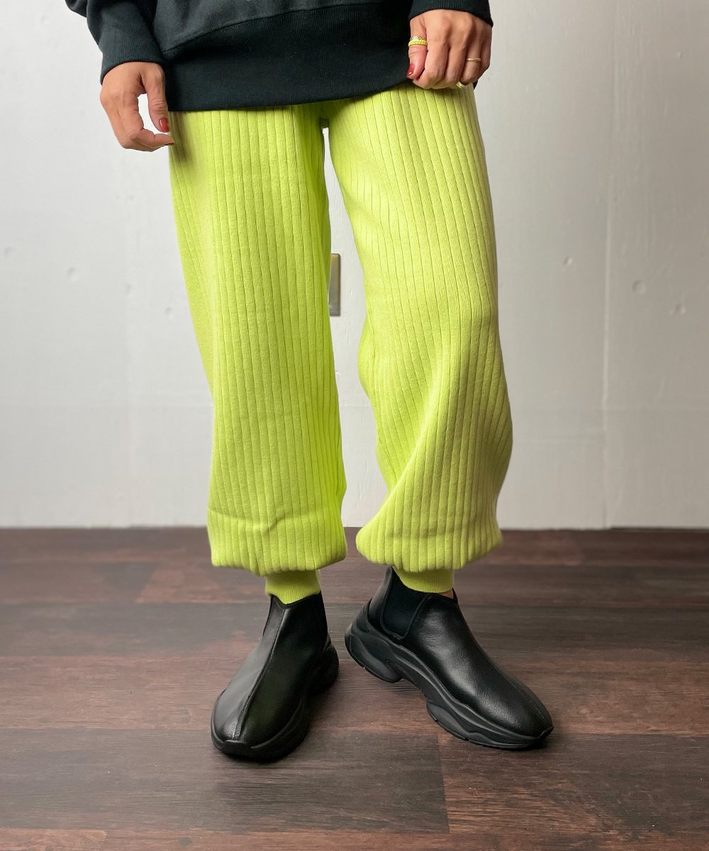 【WoM】RIB KNIT PANTS(LIME)<img class='new_mark_img2' src='https://img.shop-pro.jp/img/new/icons14.gif' style='border:none;display:inline;margin:0px;padding:0px;width:auto;' />