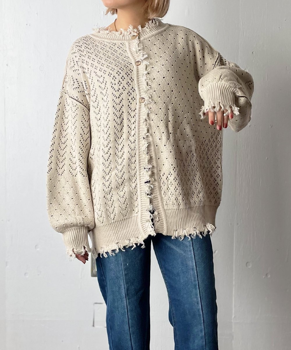 【WoM】OPEN WORK CRASH KNIT (LIGHT BEIGE)<img class='new_mark_img2' src='https://img.shop-pro.jp/img/new/icons14.gif' style='border:none;display:inline;margin:0px;padding:0px;width:auto;' />