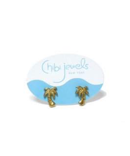 【Chibi jewels】Palm Tree Stud Earrings