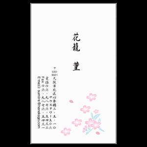 花名刺 桜 白