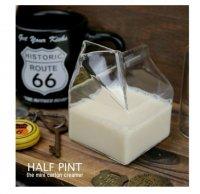 ミルクカートンガラスカップタンブラー