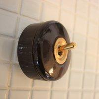陶器スイッチブラウン