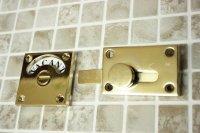 ゴールドメッキ加工表示錠